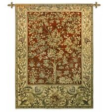 Tree of Life Ruby Tapestry Wall Hanging