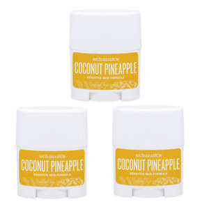 Schmidt's Coconut Pineapple Deodorant Sensitive Skin Formula 0.7 oz( Pack of 3 )