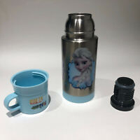 NWOT DISNEY FROZEN ELSA OLAF ANNA THERMOS 12oz FUNTAINER w/ CUP Stainless Steel