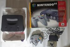 Nintendo 64, N64 Console -- Complete in Box / CIB -- System with 1 Controller --