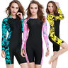 Woman One Piece Swimsuit Long Sleeve Surfing Suit Rash Guard Swimwear Dive Skin