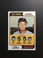 1974 Topps Earl Weaver Baltimore Orioles #306 - NM/MT OR BETTER