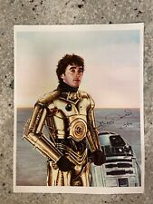 Anthony Daniels signed C-3PO Star Wars 8.5X11 picture with R2 D2