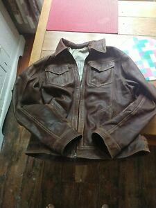 Soft Nappa leather light tan Bomber  Jacket. size e56 UK L to slimfit  XL .