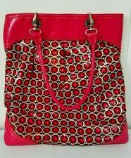Vera Bradley Vinyl Purse Tote Paprika Frill So Over It Bag Pink Floral Plastic