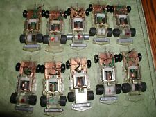 SLOTLESS TCR COMMAND CONTROL TYCO SLOT CAR 10 CHASSIS PARTS LOT