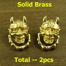 2pcs Brass Leathercraft Skull Rivet Stud Punk Screw Bag Conchos Wallet Buckle