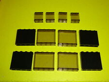 Légo TRAIN LEGO CITY - Lot Vitrage wagon voiture - 8 translucides & 4 opaques