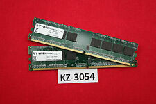 2GB (2x1GB) Kit of 2  DDR2  PC (Desktop) RAM  PC2-5300U 667MHz #KZ-3054