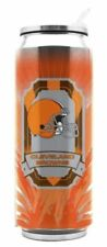 Cleveland Browns 16.9oz Stainless Steel ThermoCan Brand New Hot/Cold with Straw