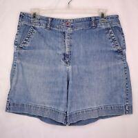 Talbots Jean Shorts Petites Size 10P Stretch Denim Mid Length High Rise