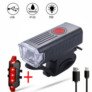 15000LM Rechargeable LED Bike Bicycle Light USB Waterproof Front Rear Headlight