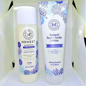 Honest Company Lavender Dreamy Truly & Ultra Calming Set Lotion Conditioner