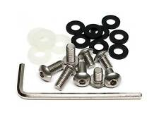 21-Pc Slim Line Anti-Theft Stainless Steel Rear License Plate Screw Kit for BMW