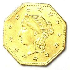 1863 Liberty California Gold Dollar G$1 Coin - Choice AU / UNC MS Details
