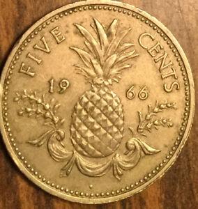 1966 BAHAMA ISLANDS 5 CENTS COIN