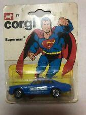 Vintage Corgi 17 Superman Police Car Factory Sealed Blister Card