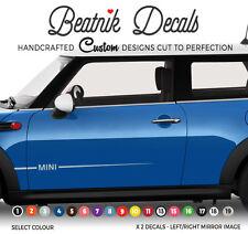 Bmw Mini Raya lateral Sticker Decal gráfica sencilla-uno-Paisano Vinilo