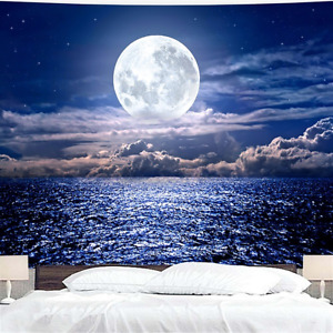 3D Print Sea Moon Large Wall Hanging Tapestry Tapestries Throw Room Decor 200CM
