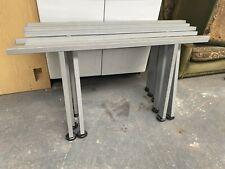 1 x Pair grey Metal Desk Table Legs