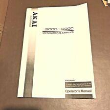Akai S5000 / S6000 Sampler Owners Manual