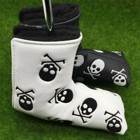 Golf Putter Cover Mallet 1 Pc Black White Colors Golf Club Head Covers Skull Set