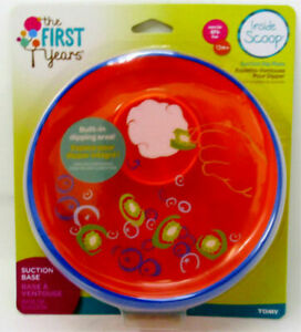 The First Years Suction Dipping Plate Inside Scoop 12m+ BPA Free NEW SEALED PACK