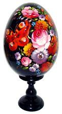PAPILLON Oeuf decore de Pâques peint a la main, oeuf en bois peint - Papillon