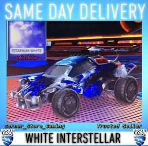 Titanium White Interstellar - Black Market Decal [XBOX] [Rocket League]