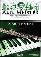 Querflöte + Klavier / Orgel Noten : Alte Meister  - leichte Mittelstufe