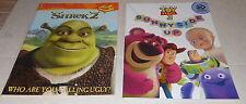 Disney Pixar Toy Story  3 &  Dreamworks Shrek 2 Sticker Book Lot (2)