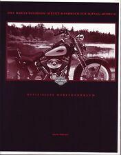Harley Wartungshandbuch 2001 FLST Softail deutsch 99482-01g Werkstattanleitung