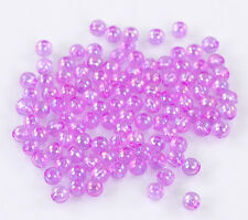 200 pc 4mm AB Viola Acrilico Spacer Beads-b22159