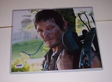 "WALKING DEAD ** DARYL NORMAN REEDUS SIGNED 8"" X 10"" ** PSA DNA AUTHENTICATED"