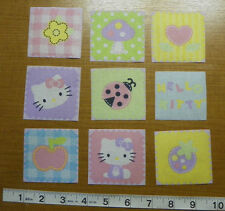 Hello Kitty  Fabric Iron On Appliques style#4  AWESOME IRON ONS!!!