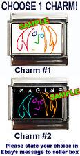 John Lennon Self Portrait Custom Italian Charm! Beatles, Imagine :-) choose 1!