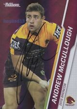 Signed Andrew McCullough Brisbane Broncos Autograph on 2015 NRL Parallel Card