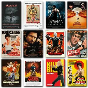Poster Martial Arts Movie Posters Bruce Lee Film Poster Kung Fu Karate Tai Chi