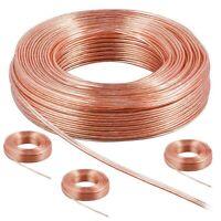 40 m Lot 4 Bobine 4x10m câble audio, Haut-Parleur Câble pour Enceinte 2X0.7mm²