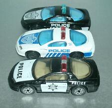 Three 1/64 Scale Chevy Camaro Z28 Diecast Police Car Toys - Matchbox Police Dept