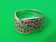 Vintage Sterling silver original ring classic size 8.5 pink crystal jewelry
