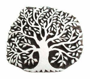 HOLZSTEMPEL BAUM 9 cm Textilstempel Indien Henna Seifenstempel Tree of life wood