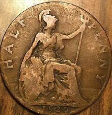 1920 UK GREAT BRITAIN HALF PENNY