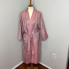 Jim Thompson 100% Silk Kimono Robe One Size Fit Most Pink Paisley