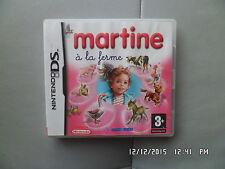 JEU NINTENDO DS  3DS : MARTINE A LA FERME    I95