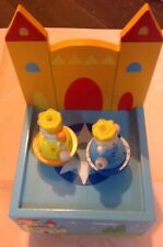 Bnib Musical Wooden Castle With 2 Turning Figures Very Colourful