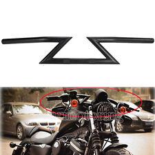 """Black 1"""" Drag Z Bars Handlebar Fit Harley Sportster Dyna Softail Chopper Bobber"""
