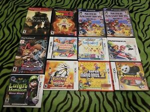Lot Of 12 Nintendo 3DS Gamecube PS2 Empty Game Cases No Games Inside CASES ONLY
