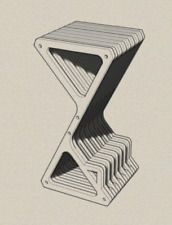 DXF, CDR, SVG, Laser Cutting Files, Plan For CNC,Bar Stool