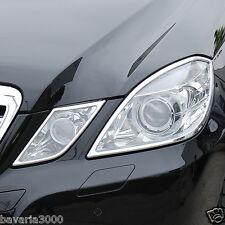 Chrom Scheinwerferrahmen Mercedes E-Klasse W212 Limousine bis Bj. 04/2013 Ringe